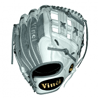 Mesh Series TJ1952-OB White with Gray Mesh 13.5 Inch Fielders Glove - Left Handed Thrower